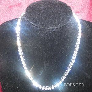 18K Solid White Gold Diamond 4mm Tennis Chain